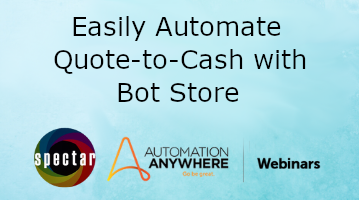 Webinar banner for Automate Quote to cash