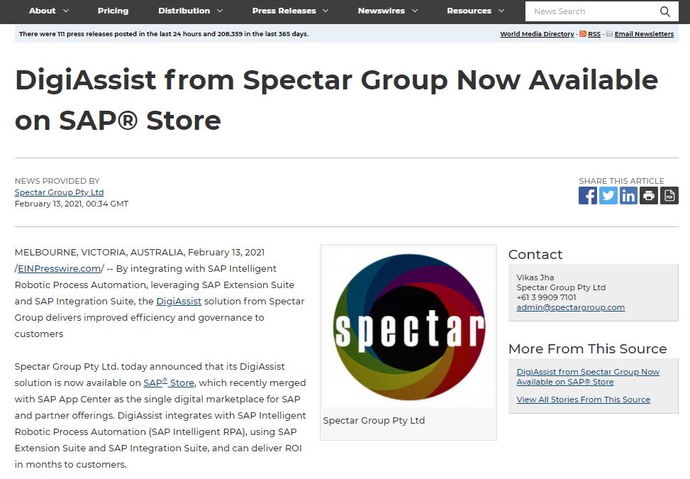 EIN Featuring Spectar DigiAssist