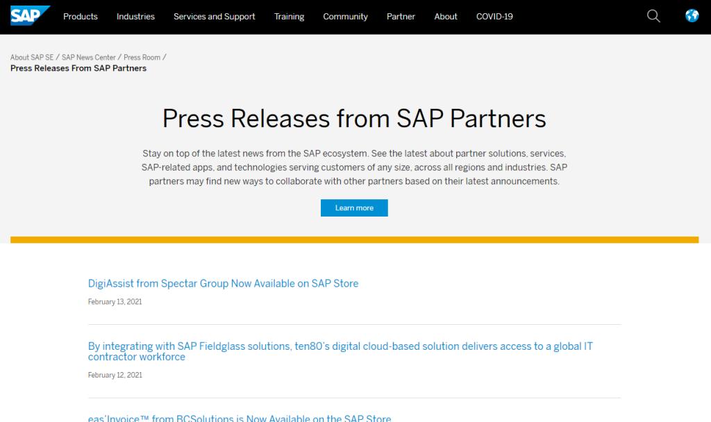 SAP News Featuring Spectar DigiAssist